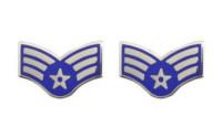Air Force Enameled Chevron: Senior Airman- pair
