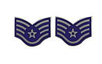 Air Force Enameled Chevron: Staff Sergeant- pair