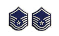 Air Force Enameled Chevron: Master Sergeant- pair