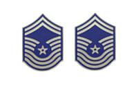 Air Force Enameled Chevron: Senior Master Sergeant- pair