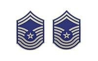 Air Force Enameled Chevron: Chief Master Sergeant- pair