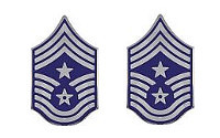 Air Force Enameled Chevron: Command Chief Master Sergeant - enameled metal- pair