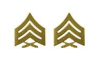 Marine Corps Chevron: Sergeant - satin gold- pair