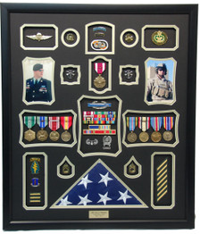 Army Ranger Display Frame with Flag