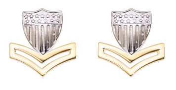 Coast Guard Metal Collar Device: E5 Petty Officer- pair