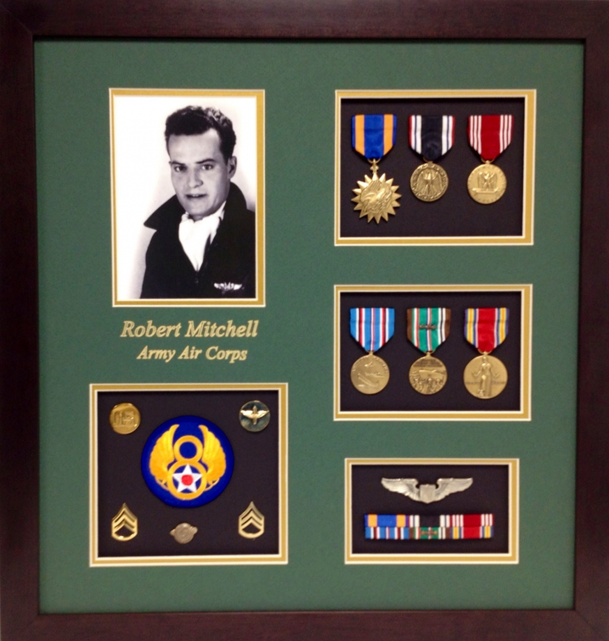 Army Air Corps Shadow Box Display Military Memories And More