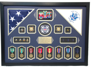 United States of America Coast Guard Shadow Display Frame