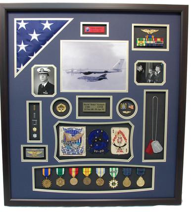 US Navy Vietnam Pilot Shadow Box