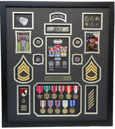 United States Army Shadow Box Display - Military Memories