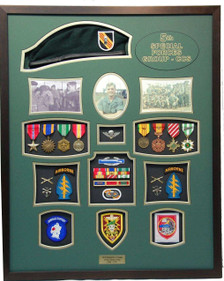 United States Army 5th Special Forces Shadow Box Display