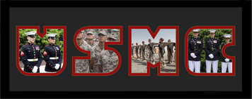 """8"""" x 20"""" United States Marine Corps Photo Font Picture Frame"""