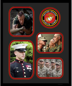 "11"" x 14"" United States Marine Corps 4 Photo Collage w/ Seal-Vertical"