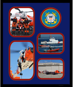"11"" x 14"" United States Coast Guard 4 Photo Collage w/ Seal-Vertical"