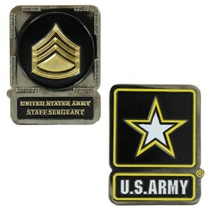 Army Challenge Coin Staff Sergeant