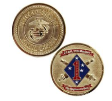 Marine Corps Challenge Coin 2nd Battalion 11th Marines