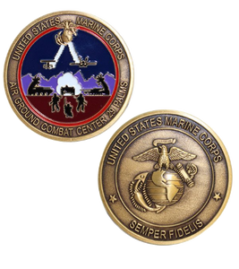 Marine Corps Challenge Coin Air Ground Combat Center 29 Palms