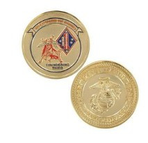 Marine Corps Challenge Coin Third Battalion First Marines Thundering Third