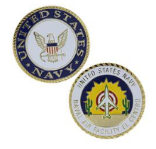 Navy Challenge Coin USN Naval Air Facility El Centro