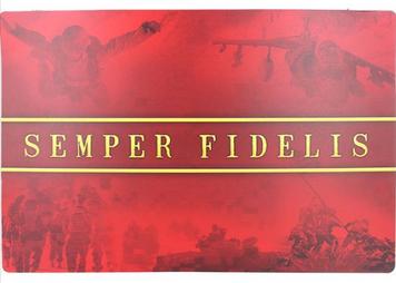Pet Chow Mat  w/ US Marine Corps Semper Fidelis