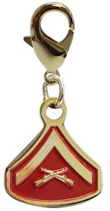 Pet Insignia Rank Charm - Lance Corporal