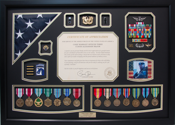 Chief Warrant Officer Shadow Box Display