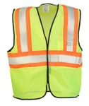 ANSI Class 2 Two-Tone Mesh Safety Vest, Lime, Size S/M