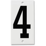 Fiberglass Number Plates for Stream Gauges, Number Plate 4