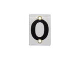 Number Plate 0 for Style E & M Staff Gages, 4in x 6in