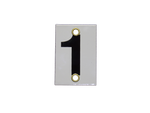 Number Plate 1 for Style E & M Staff Gages, 3in x 2in