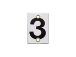 Number Plate 3 for Style E & M Staff Gages, 4in x 6in