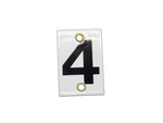 Number Plate 4 for Style E & M Staff Gages, 4in x 6in