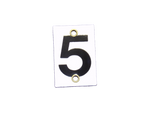 Number Plate 5 for Style E & M Staff Gages, 4in x 6in