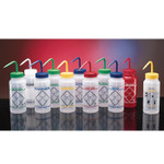 Safety Label Wash Bottle, WM, Variety Pack, 16oz/500ml, 6/pak