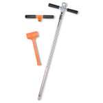"AMS Hammer Head Soil Probe Kit, Heavy-Duty w/ 13"" Window"