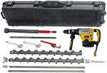AMS Hollow Stem Auger Kit with Hammer Drill