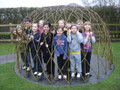 Yorkshire Willow Build on Site 3.0m Dome & 3.0M Tunnel
