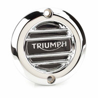 Triumph Chrome Ribbed Inspection Cover