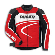 Ducati Sport C2 Perforated Leather Jacket by Dainese (Red)