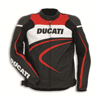 Ducati Sport C2 Perforated Leather Jacket by Dainese (Black)