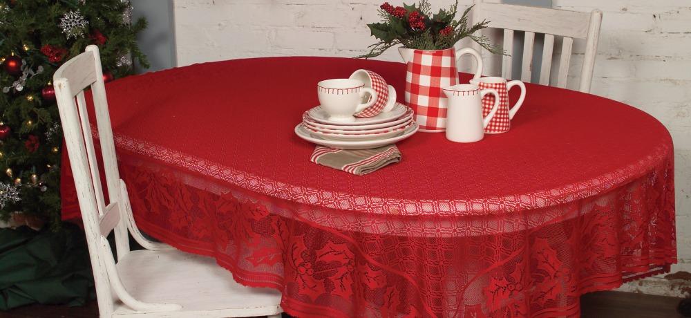 Holly Vine Christmas Tablecloth