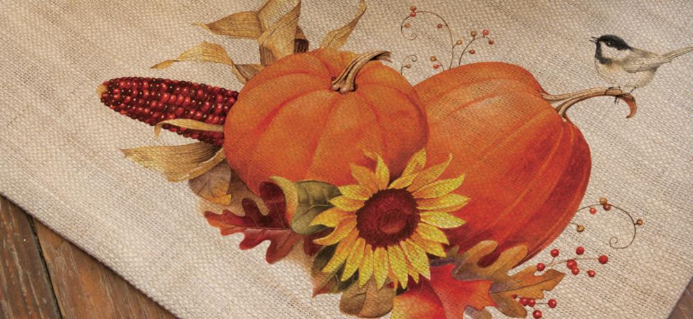 Harvest Pumpkin Autumn Placemats