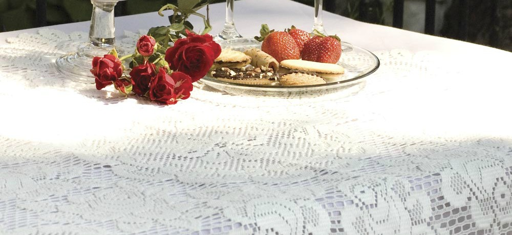rose lace tablecloth