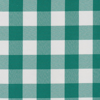 Teal Checkered Round Tablecloth