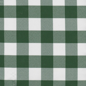 Attractive Green Checkered Cloth Tablecloth
