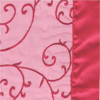Capri Sheer Round Tablecloth. Capri Sheer Red