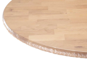 Clear Vinyl Tablecloth Protector With Elastic