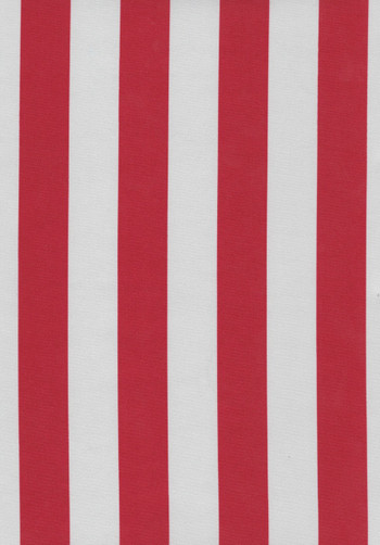 Nice Red White Striped Tablecloth