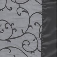 Capri Sheer Black Elegant Tablecloths