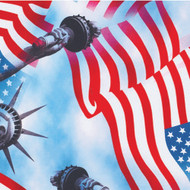Lady Liberty Printed Patriotic Tablecloth