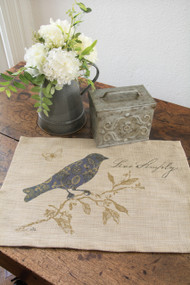 Burlap Meadow Song Bird Placemats
